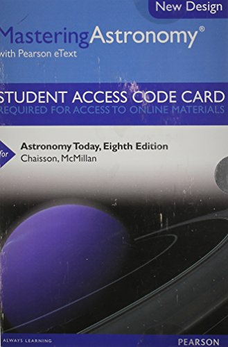 9780321910189: MasteringAstronomy with Pearson eText -- Standalone Access Card -- for Astronomy Today (8th Edition)