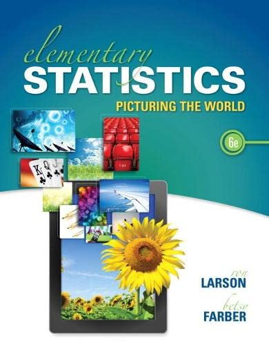 9780321911216: Elementary Statistics: Picturing the World (6th Edition)