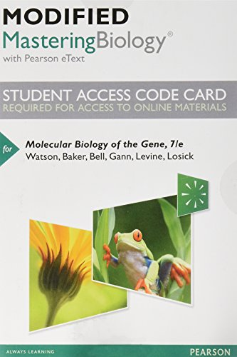 9780321911438: Modified MasteringBiology with Pearson eText -- Standalone Access Card -- for Molecular Biology of the Gene (7th Edition)
