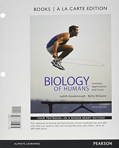 9780321911988: Biology of Humans: Concepts, Applications, and Issues, Books a la Carte Plus MasteringBiology with eText -- Access Card Package (5th Edition)