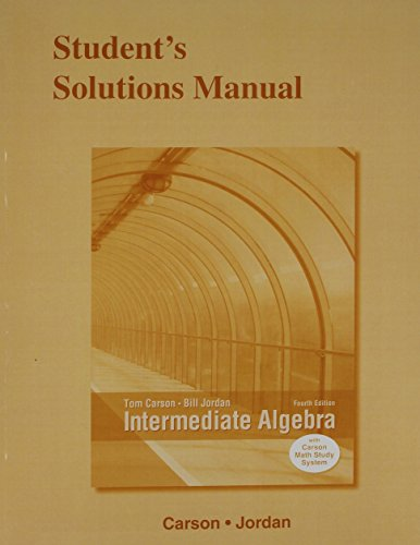 9780321912282: Student's Solutions Manual for Intermediate Algebra