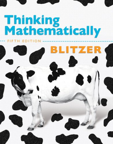 9780321912701: Thinking Mathematically with Integrated Review with  Worksheets plus MyMathLab with Pearson eText -- Access Card Package