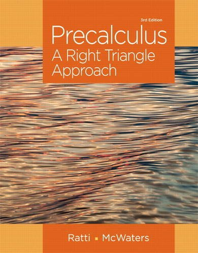 9780321912763: Precalculus: A Right Triangle Approach (3rd Edition)