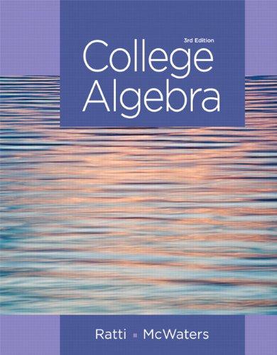 9780321912787: College Algebra (3rd Edition)