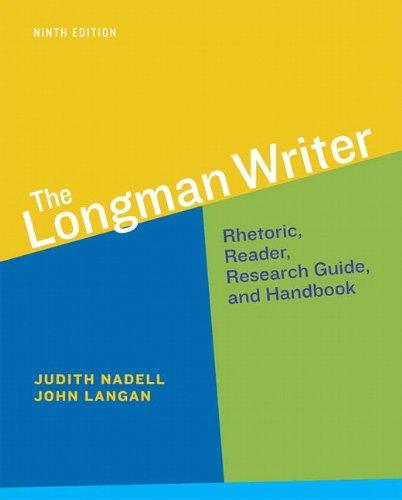 9780321914132: The Longman Writer (9th Edition) - Standalone book