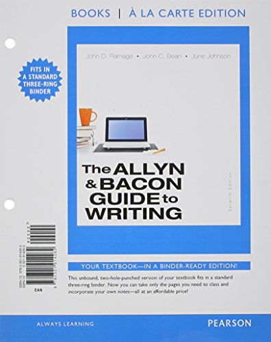 9780321914262: Allyn & Bacon Guide to Writing,The, Books a la Carte Edition (7th Edition)