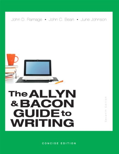 9780321914309: Allyn & Bacon Guide to Writing, The, Concise Edition (7th Edition)