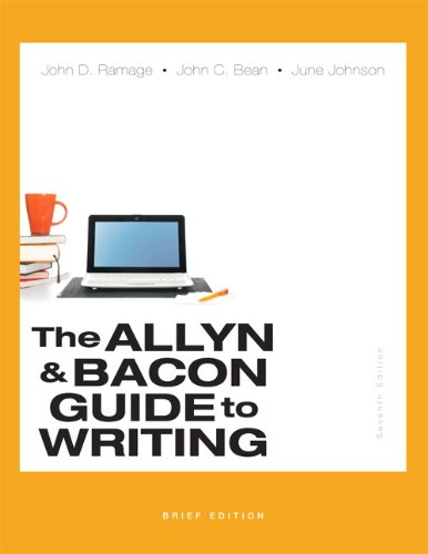 9780321914422: The Allyn & Bacon Guide to Writing, Brief Edition (7th Edition)