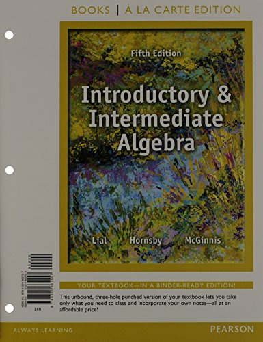 9780321914521: Introductory and Intermediate Algebra, Books a la Carte Edition Plus NEW MyMathLab with Pearson eText -- Access Card Package (5th Edition)