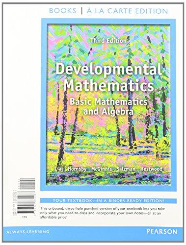 9780321914736: Developmental Mathematics, Books a la Carte Edition Plus MyMathLab -- Access Card Package (3rd Edition)