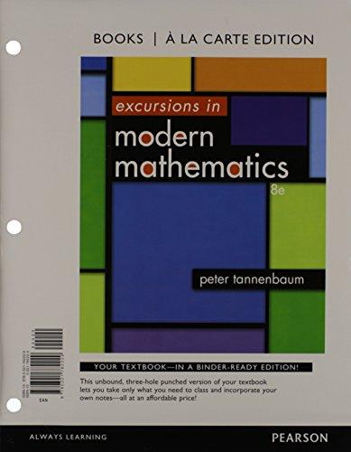 9780321914750: Excursions in Modern Mathematics: A La Carte Edition, 8th Edition