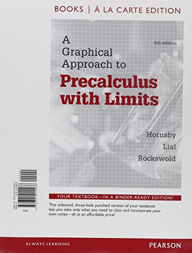 9780321914798: A Graphical Approach to Precalculus with Limits, Books a la Carte Edition Plus MyMathLab Student Access Card (6th Edition)