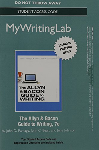 9780321914989: MyWritingLab with Pearson eText -- Standalone Access Card -- for Allyn & Bacon Guide to Writing (7th Edition)