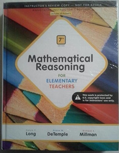 9780321915054: Mathematical Reasoning for Elementary Teachers 7th ed AIE
