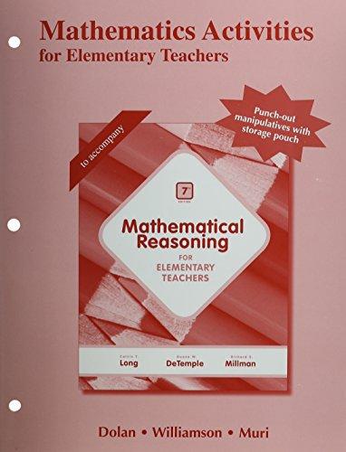 9780321915115: Mathematics Activities for Elementary Teachers