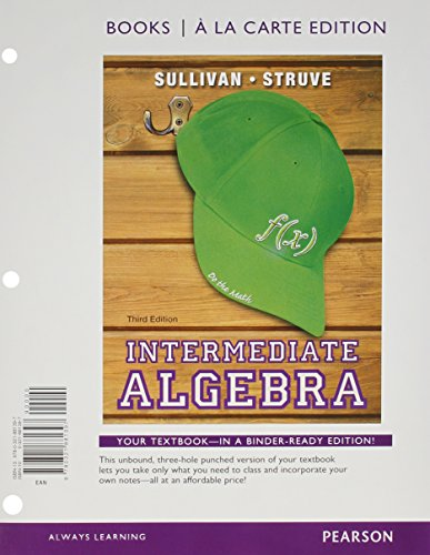9780321915122: Intermediate Algebra Books a la Carte Edition Plus NEW MyMathLab with Pearson eText -- Access Card Package (3rd Edition)