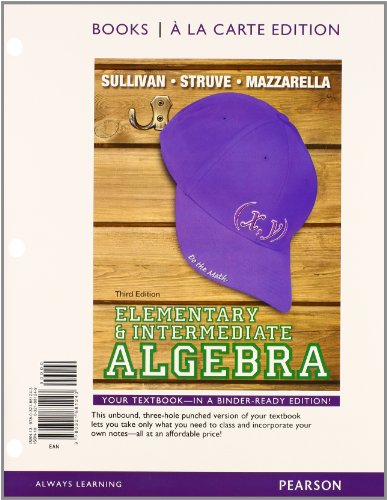 9780321915139: Elementary & Intermediate Algebra Books a la Carte Edition Plus NEW MyMathLab with Pearson eText -- Access Card Package (3rd Edition)