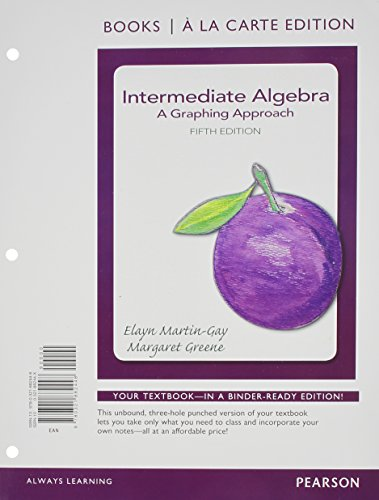 9780321915146: Intermediate Algebra: A Graphing Approach Books a la Carte Plus NEW MyMathLab with Pearson eText - Access Card Package (5th Edition)