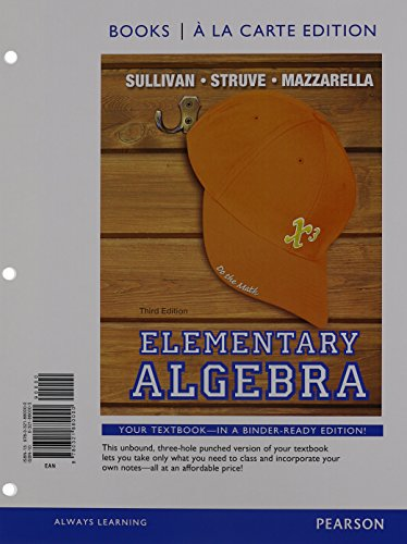 9780321915160: Elementary Algebra Books a la Carte Edition Plus NEW MyLab Math with Pearson eText -- Access Card Package (3rd Edition)