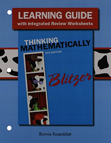 9780321915382: Learning Guide for Thinking Mathematically