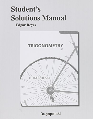 9780321915474: Student's Solutions Manual for Trigonometry