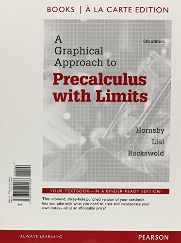 9780321915566: A Graphical Approach to Precalculus, Books a la Carte Edition (6th Edition)