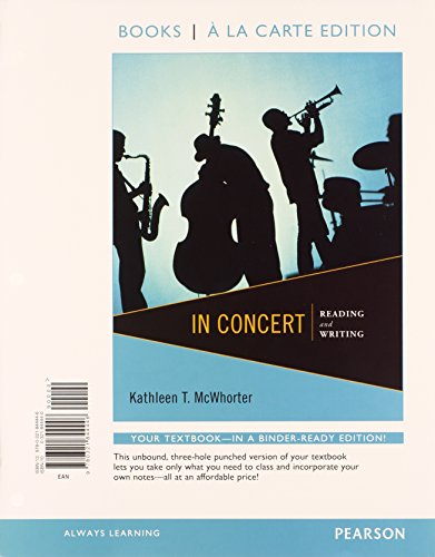 9780321915726: In Concert: Reading and Writing, Books a la Carte Plus NEW MySkillsLab with eText -- Access Card Package