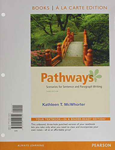 9780321915863: Pathways: Writing Scenarios: Sentences and Paragraphs, Books a la Carte Plus MyWritingLab with eText -- Access Card Package (3rd Edition)