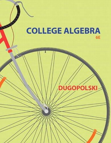 9780321916600: College Algebra (6th Edition)