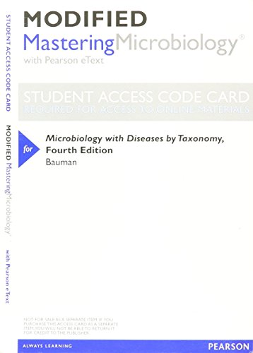 NEW MasteringMicrobiology with Pearson EText -- ValuePack: Bauman, Robert W.