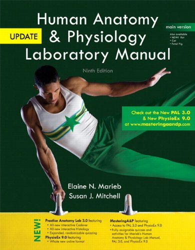 9780321917072: Human Anatomy & Physiology Laboratory Manual, Main Version, Update Plus MasteringA&P with eText -- Access Card Package (9th Edition)