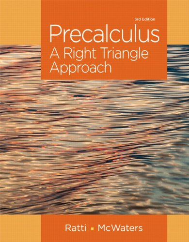 Precalculus: A Right Triangle Approach -- (3rd