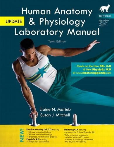 9780321918925: Human Anatomy & Physiology Laboratory Manual, Cat Version, Update Plus MasteringA&P with eText -- Access Card Package (10th Edition)