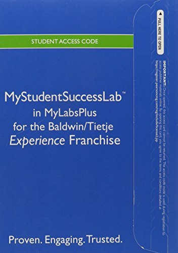 9780321919366: NEW MyStudentSuccessLabPlus with Pearson eText -- Standalone Access Card -- for the College Experience Franchise
