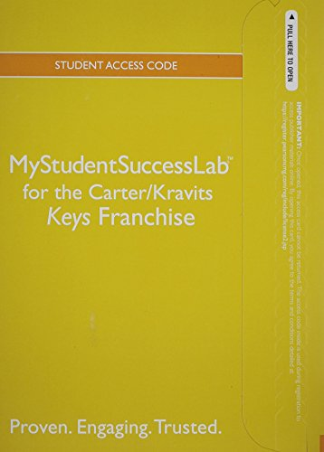 9780321919373: NEW MyStudentSuccessLab with Pearson eText -- Standalone Access Card -- for the Keys to Success Franchise