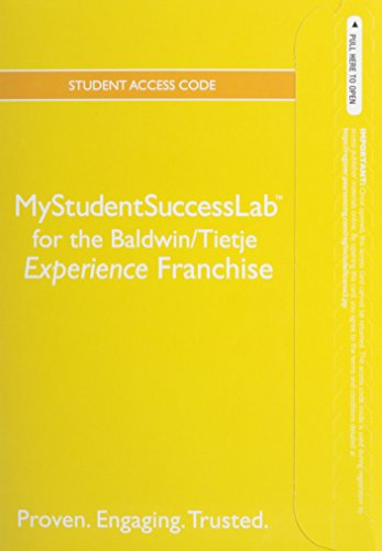 9780321920430: NEW MyStudentSuccessLab with Pearson eText -- Standalone Access Card -- for the College Experience Franchise