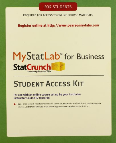 MyLab Statistics with eText for Business Statistics: Pearson Education