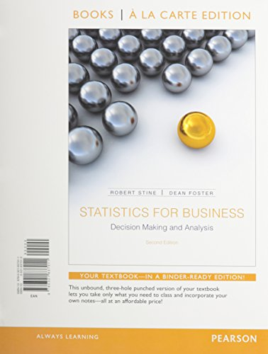 9780321921772: Statistics for Business: Decision Making and Analysis, Student Value Edition Plus NEW MyStatLab with Pearson eText -- Access Card Package (2nd Edition)