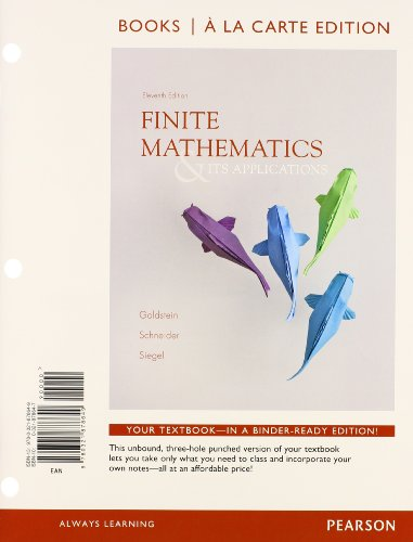 9780321921789: Finite Mathematics & Its Applications, Books a la Carte Edition Plus NEW MyMathLab with Pearson eText with Pearson eText -- Access Card Package (11th Edition)