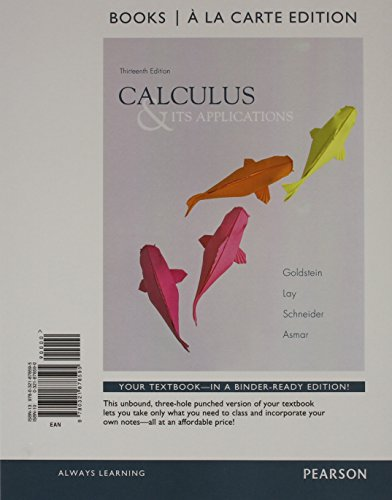 9780321921796: Calculus & Its Applications, Books a la Carte Edition Plus NEW MyMathLab with Pearson eText with Pearson eText-- Access Card Package (13th Edition)