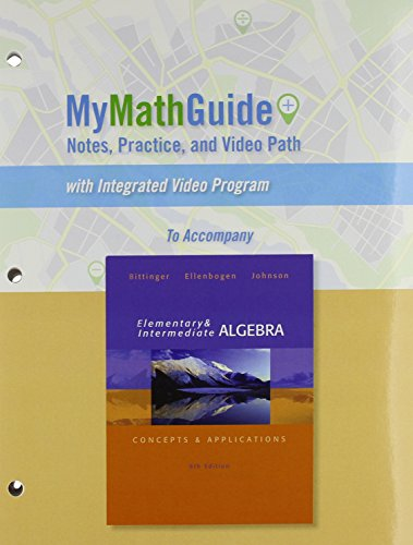 MyMathGuide for Elementary and Intermediate Algebra: Concepts & Applications, Plus MyMathLab --...