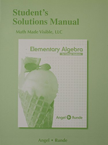9780321923288: Student's Solutions Manual for Elementary Algebra for College Students