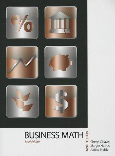 Business Mathematics, Brief Edition Plus MyMathLab with: Cleaves, Cheryl