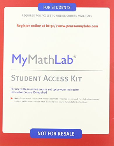 Business Math, Books a La Carte Edition + Mymathlab Access Card Package: Cleaves, Cheryl/ Hobbs, ...
