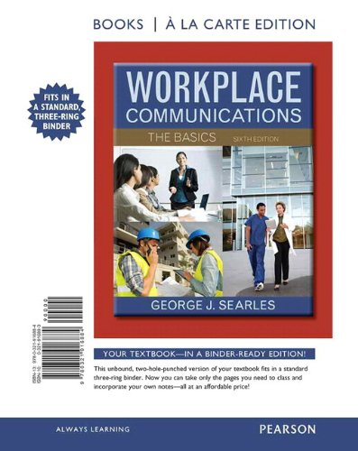 9780321924582: Workplace Communications The Basics, Books a la Carte Plus NEW MyTechCommLab -- Access Card Package (6th Edition)