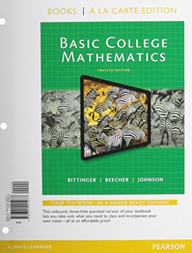 9780321925077: Basic College Math, Books a la Carte Edition (12th Edition)