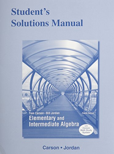 9780321925299: Student's Solutions Manual for Elementary and Intermediate Algebra