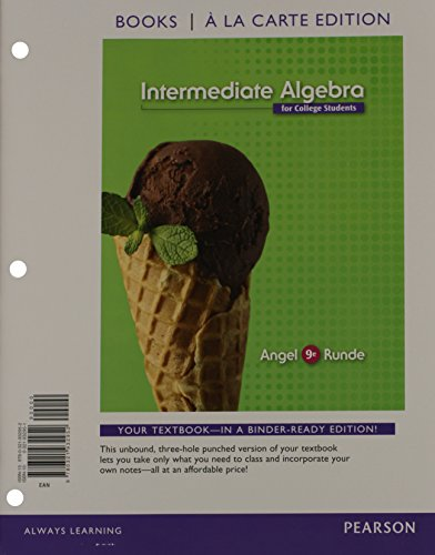 9780321925374: Intermediate Algebra For College Students, Books a la Carte Edition Plus NEW MyMathLab with Pearson eText -- Access Card Package (9th Edition)