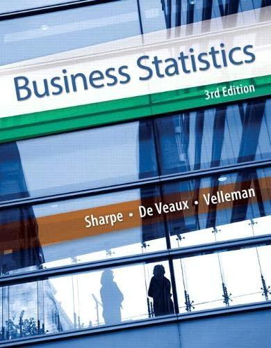 Business Statistics (3rd Edition): Sharpe, Norean D.; De Veaux, Richard D.; Velleman, Paul