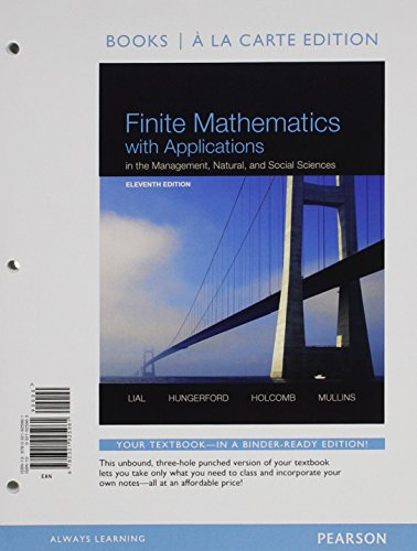 9780321925961: Finite Mathematics with Applications In the Management, Natural, and Social Sciences, Books a la Carte Edition (11th Edition)